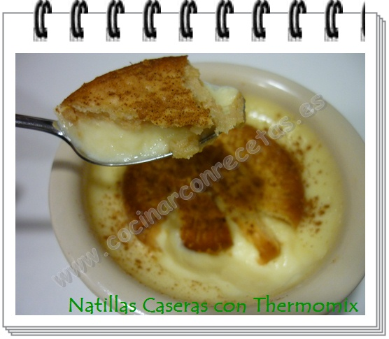 Natillas caseras con thermomix cocinar con recetas for Cocinar natillas caseras