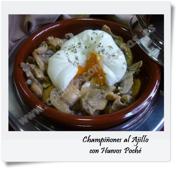 champi ones al ajillo con huevos poch cocinar con recetas