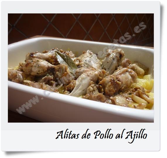 Cocinar con recetas carnes alitas de pollo al ajillo 1 - Cocinar pollo al ajillo ...