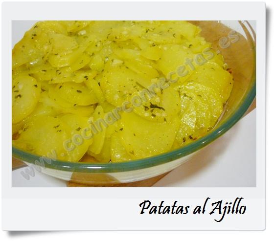 cocinar con recetas guarniciones patatas al ajillo 1