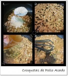 Cocinar con recetas aperitivos croquetas de pollo asado 2 for Cocinar un pollo entero